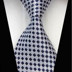 Hedvábná kravata šedá NT0454