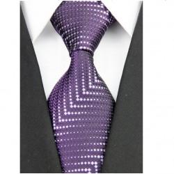 Hedvábná kravata fialová NT0185