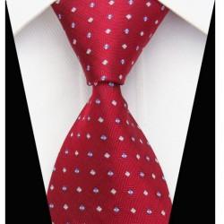 Hedvábná kravata červená NT0061