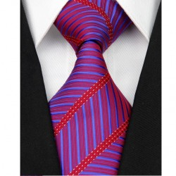 Hedvábná kravata červená NT0081