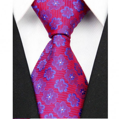 Hedvábná kravata červená NT0087