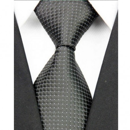 Hedvábná kravata černá NT0098
