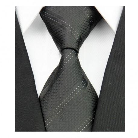 Hedvábná kravata černá NT0079