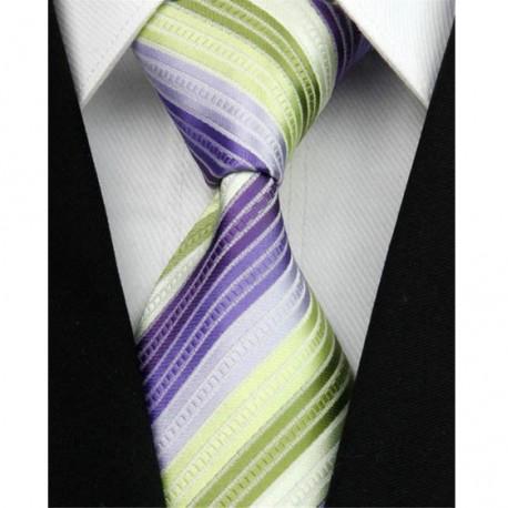 Hedvábná kravata zelená NT0036