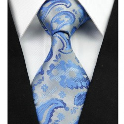 Hedvábná kravata šedá NT0296