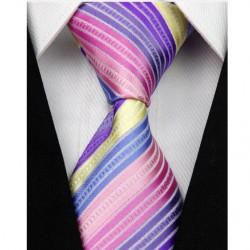Hedvábná kravata fialová NT0095
