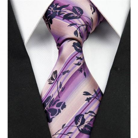 Hedvábná kravata fialová NT0287