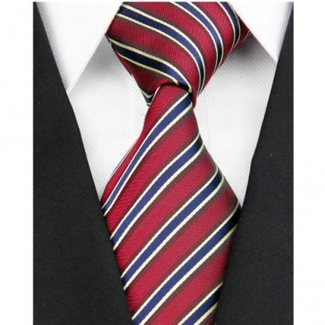 Hedvábná kravata červená NT0118