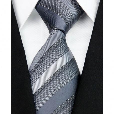 Hedvábná kravata černá NT0112