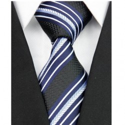 Hedvábná kravata černá NT0109