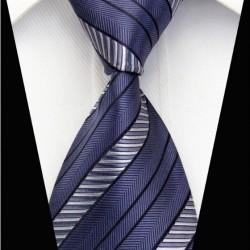 Hedvábná kravata modrá NT0101