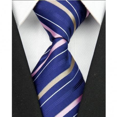 Hedvábná kravata modrá NT0090