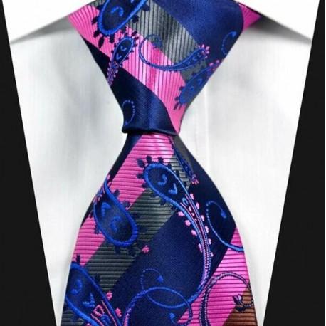 Hedvábná kravata modrá NT0321