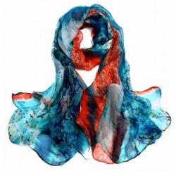 Hedvábný šátek 100% SILK LSGS020B
