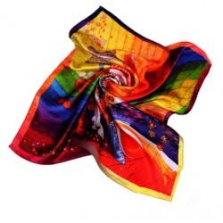 Hedvábný šátek 100% SILK 53SD02B