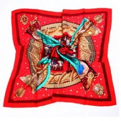 Hedvábný šátek 100% SILK 90ST012A
