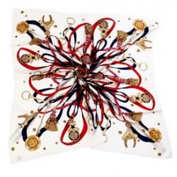 Hedvábný šátek 100% SILK 90ST019